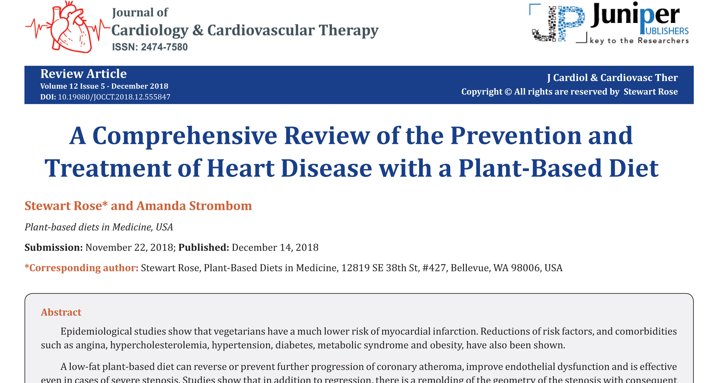 A Comprehensive Review of the Prevention and Treatment of Heart