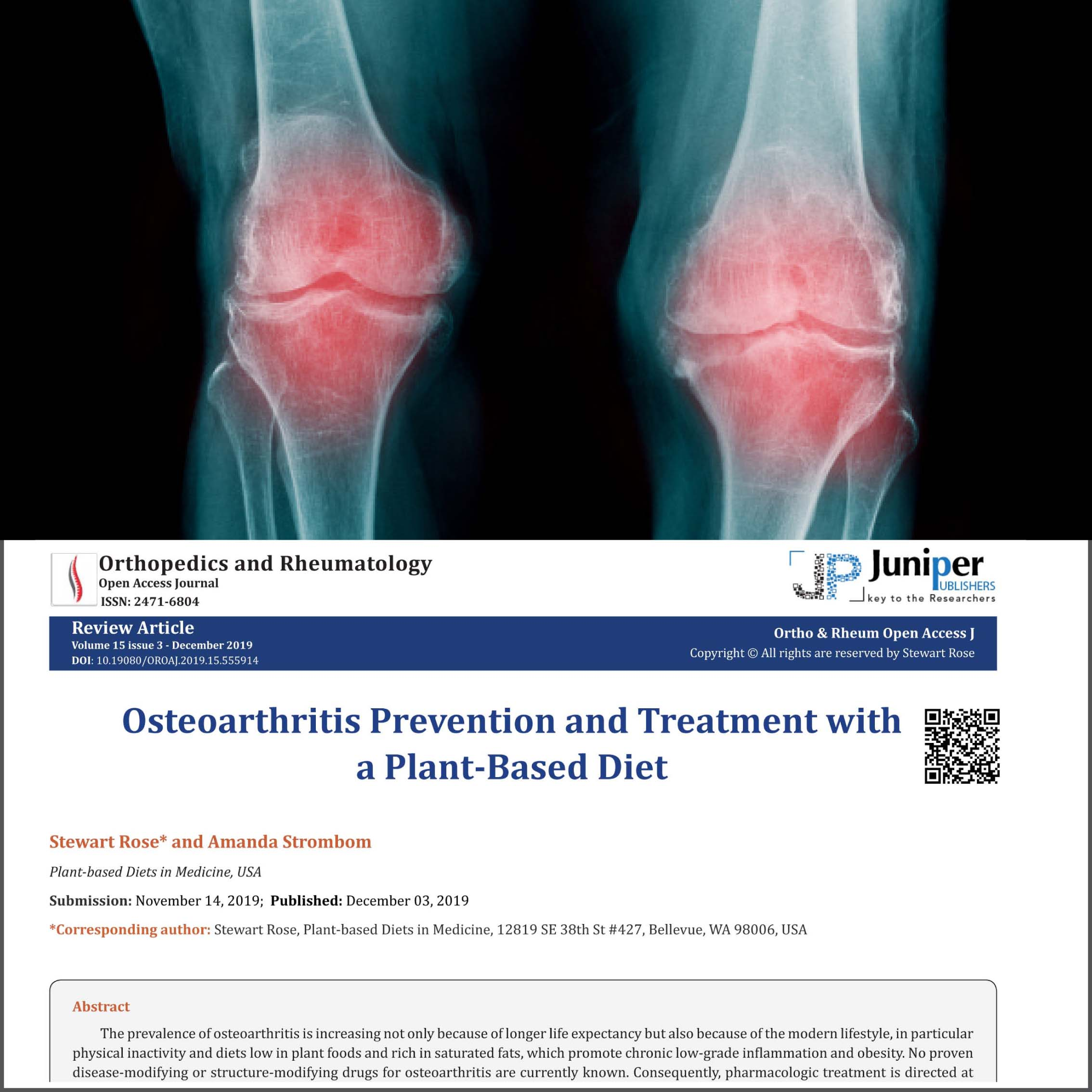 whole food plant based diet osteoarthritis