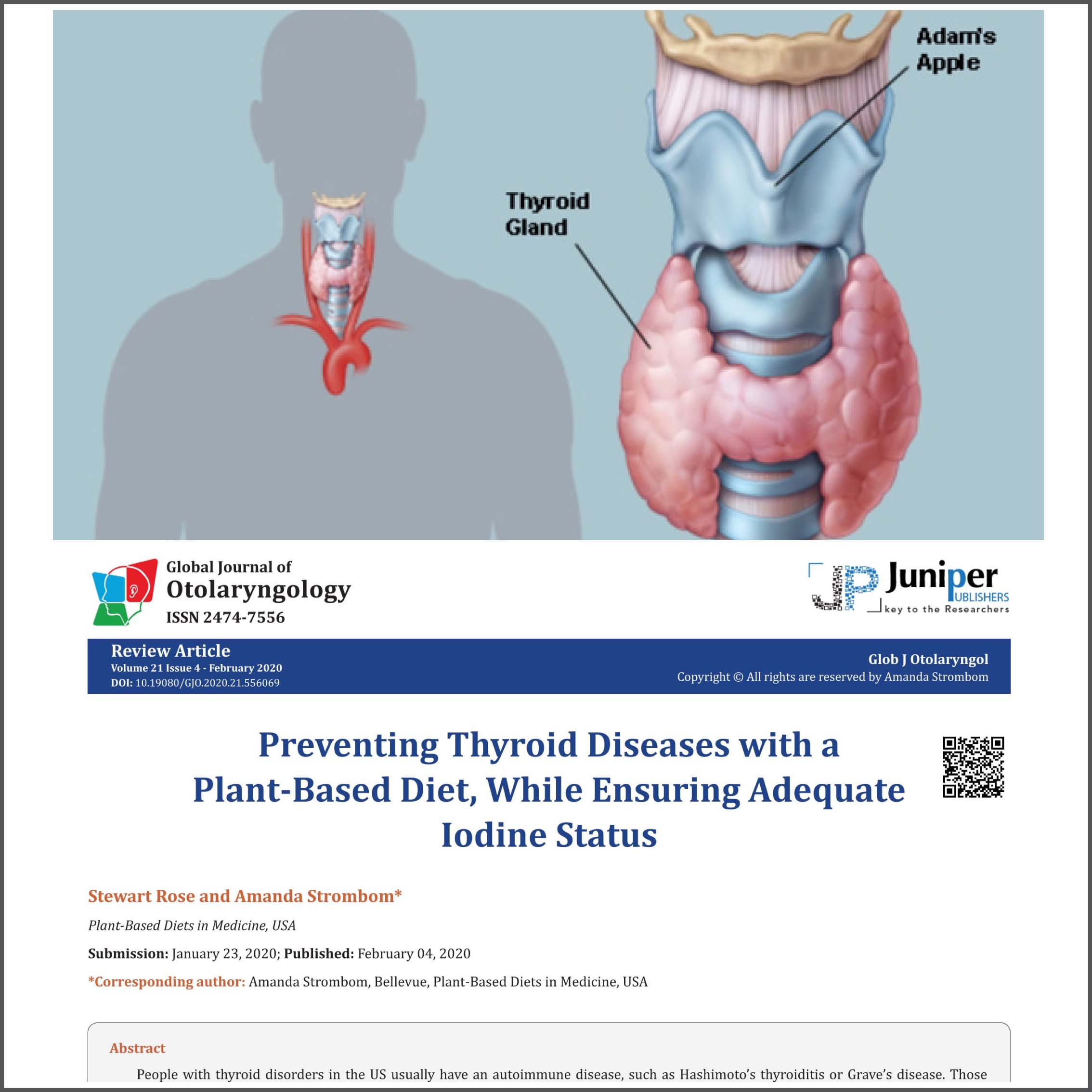 do plant based diet cause thyroid problems